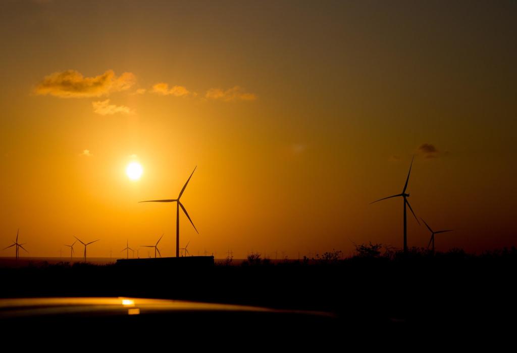 Stromproduktion via Windrad
