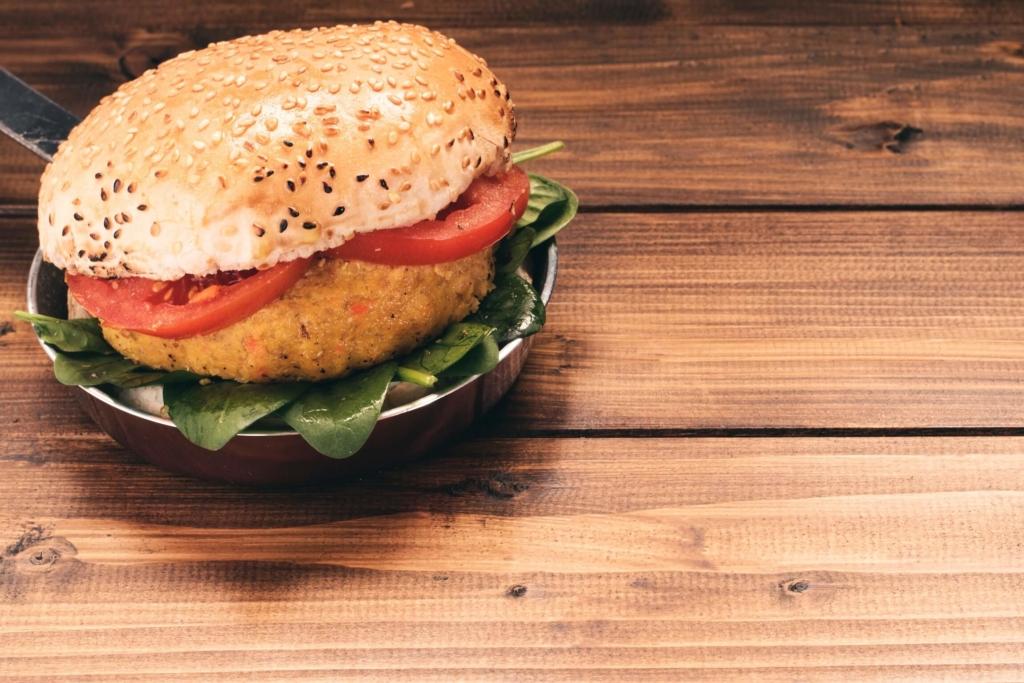 Ein vegetarischer Burger
