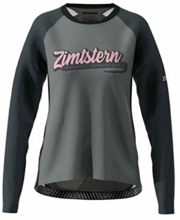 Zimtstern Damen ProTechZonez Shirt LS WMNS MTB, Glacier Grey/Pirate Black, L - 1