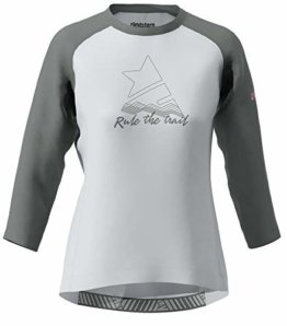 Zimtstern Damen PureFlowz Shirt 3/4 WMNS MTB, Glacier Grey/Gun Metal/Blush, L - 1
