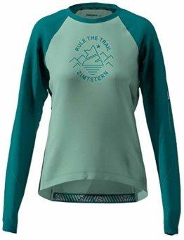 Zimtstern Damen PureFlowz Shirt LS WMNS MTB, Granite Green/Pacific Green/Blush, L - 1