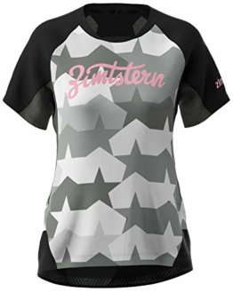 Zimtstern Damen TechZonez Shirt SS WMNS MTB, Pirate Black/Gun Metal/Blush, XL - 1