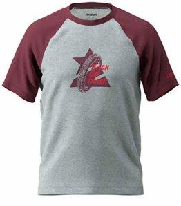 Zimtstern Herren Botz Tee T-Shirt, Glacier Grey/Windsor Wine, XXL - 1