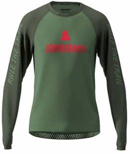 Zimtstern Herren PureFlowz Shirt LS MTB, Bronze Green/Forest Night/Cyber Red, M - 1