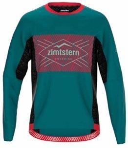 Zimtstern Herren TechZonez Shirt LS MTB, Pacific Green/Cyber Red/Granite Green, S - 1