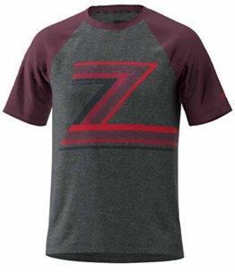 Zimtstern Herren The-Z Tee T-Shirt, Gun Metal Melange/Windsor Wine, S - 1