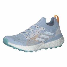 adidas Damen Terrex Two Ultra Parley W Leichtathletik-Schuh, Dash Grey/FTWR White/Blue Spirit, 39 1/3 EU - 1