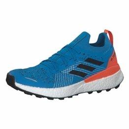 adidas Herren Terrex Two Ultra Parley Leichtathletik-Schuh, Scharf Blau/Kern Schwarz/Wahr Orange, 43 1/3 EU - 1