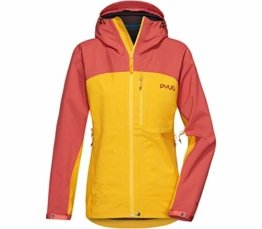 PYUA Damen Gorge Jacke, Dark Rose-Pumkin Yellow - 1